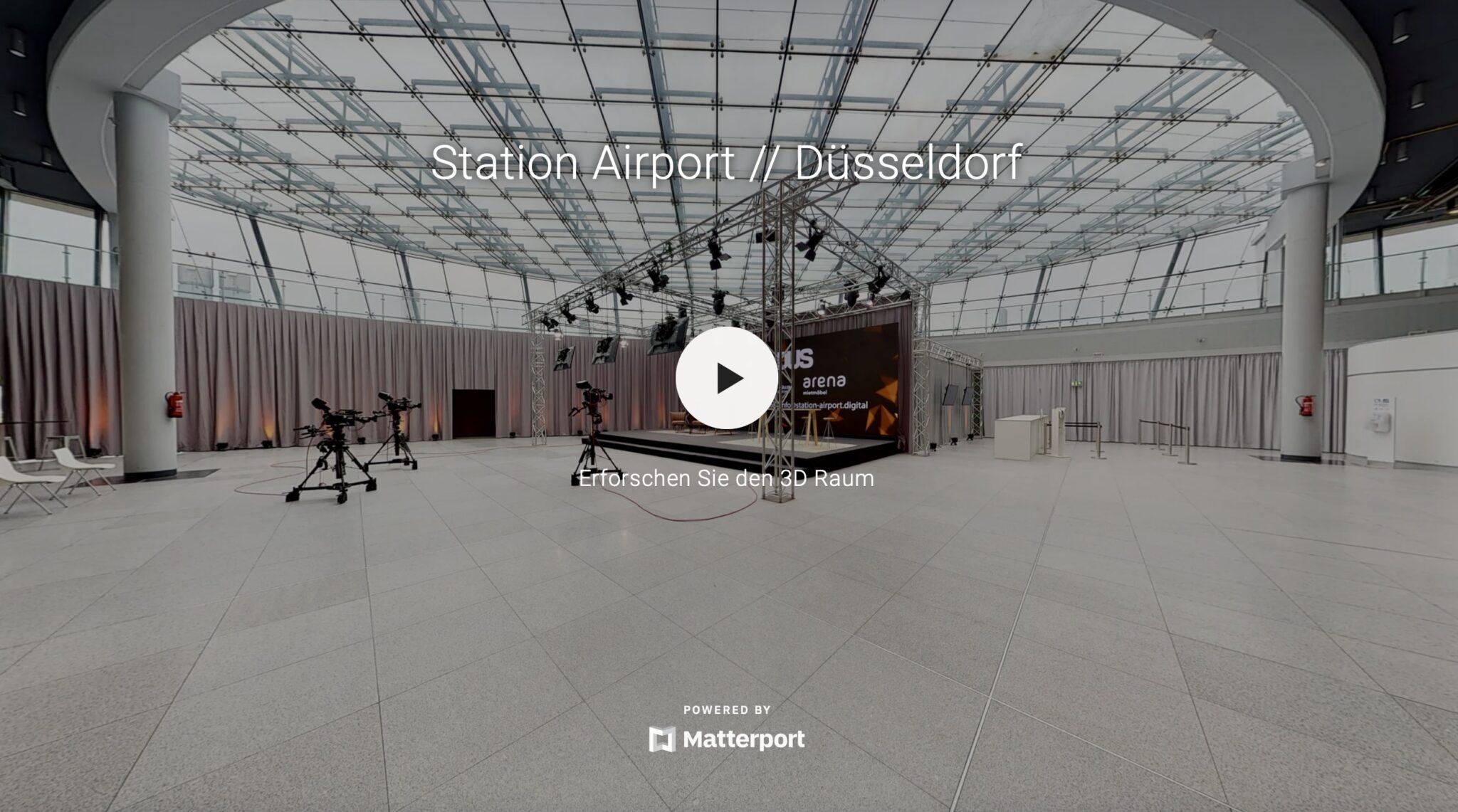 3D-Rundgang der Station Airport Düsseldorf