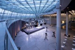 Das große Streaming- Studio in der Station Airport Düsseldorf
