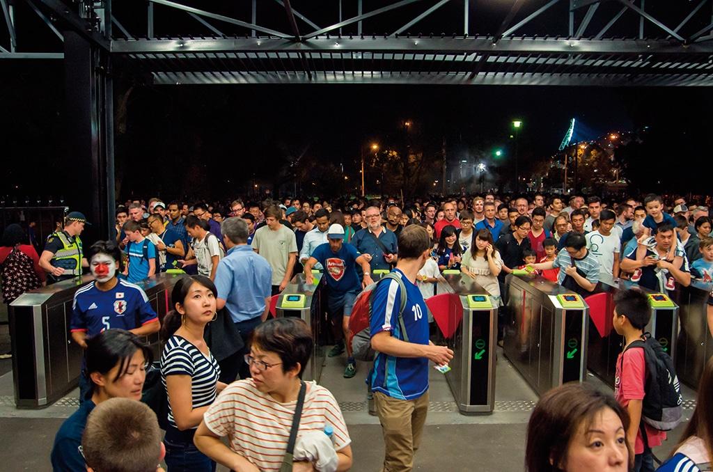 Event-Menschenmenge-Einlass